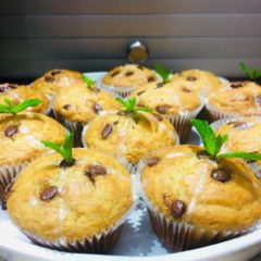 Milk Chocolate Chip & Mint Muffins