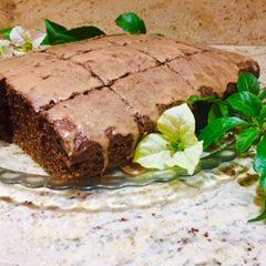 Moist Chocolate Cake With Almond Coffee Cream