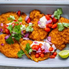 Mexican chicken schnitzels
