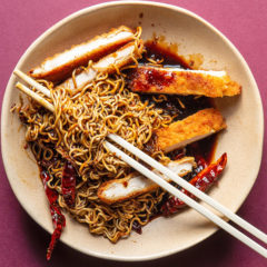 Sticky stir-fry noodles