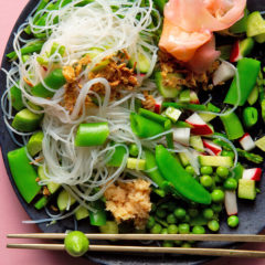 Asian greens with vermicelli