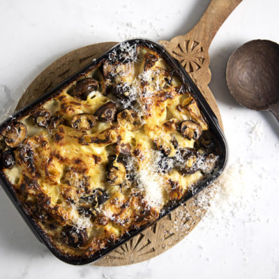Creamy mushroom mac 'n cheese