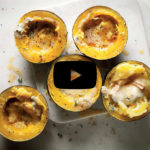 Blue cheese baked gem squash
