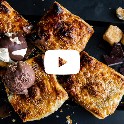 Watch: Chocolate-and-pear braai pie