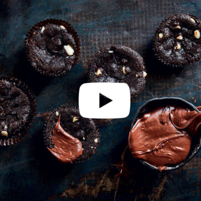 Watch: Chocolate chunk brownie cupcakes