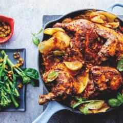 One-pan chicken-and-potato bake