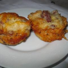 Reuben Muffins (Corned beef and Sauerkraut muffins)