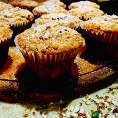 Sunflower & Sesame Seed Fruit Muffins