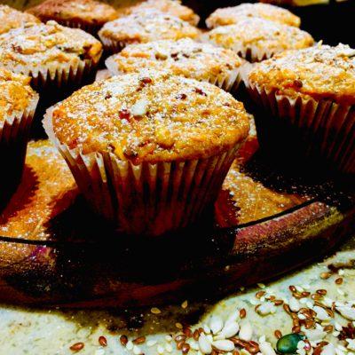 Sunflower & Sesame Seed Fruit Muffins