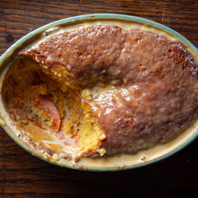 Poached guava cake