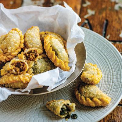 Sambousek (deep-fried Lebanese pastries)