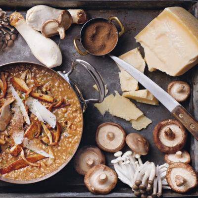 Liam Tomlin's mushroom risotto