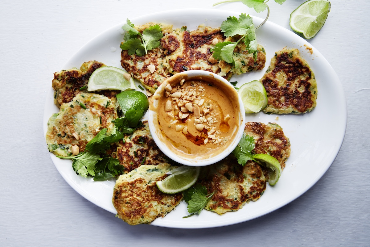 ZESTY-SWEET-POTATO-FRITTERS-WITH-SPICY-PEANUT-DIPPING-SAUCE