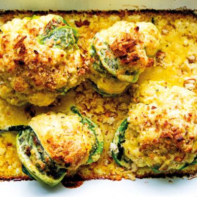 Cauliflower with mustard-cheese sauce