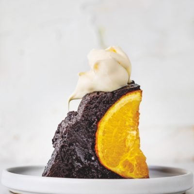 Our version of Jamie Oliver's chocolate-and-orange pudding