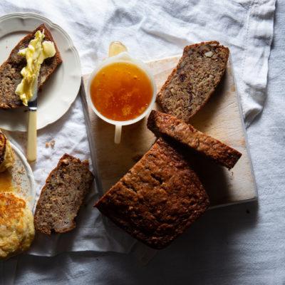 Choc-banana bread