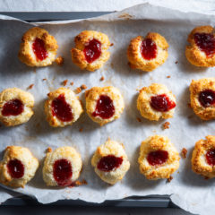Coconut-and-jam drops