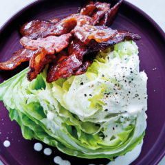 Wedge salad with maple bacon