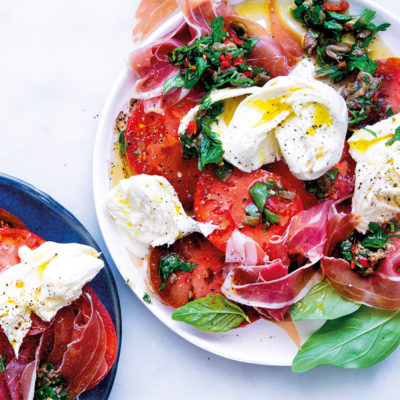Heirloom tomato carpaccio