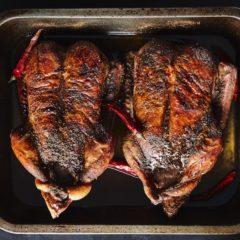Whole roast duck