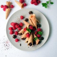 Chocolate Cream Cones