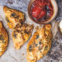 Handmade Cornish pasties