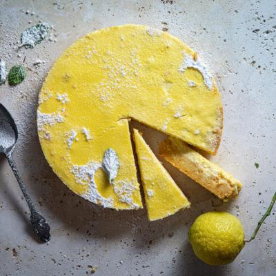 Lemon cornflake quiche