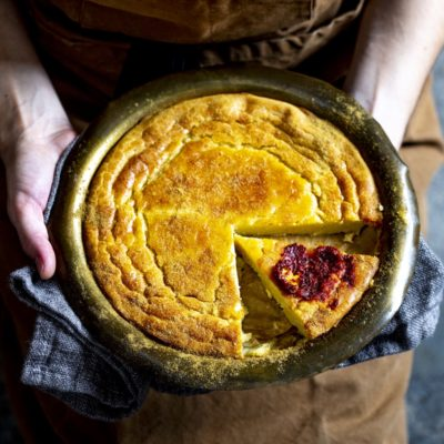 Moroccan chickpea flour tart (Kalinti)