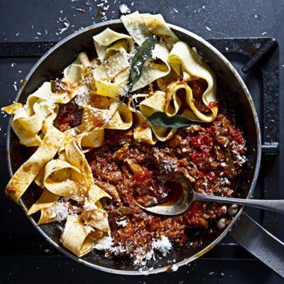 Lamb ragù pasta