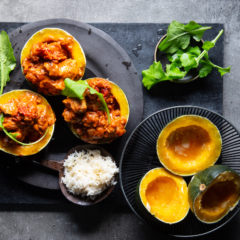 Chicken curry cups