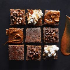 Chocolate-and-gingerbread tray sponge