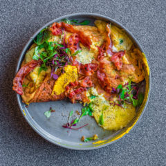 Cheesy souffle omelette