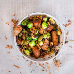 Crunchy fried Brussels sprouts