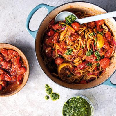 Lemon-and-tomato pasta