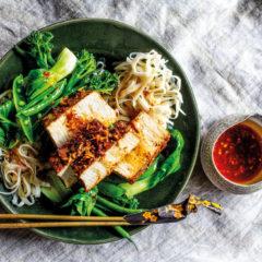 Slow-baked marinated tofu