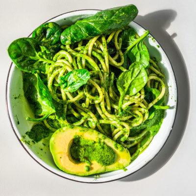 Spinach-and-broccoli pasta