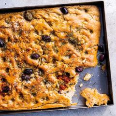 Stuffed tray-bake focaccia