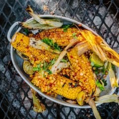 Braaied sweetcorn