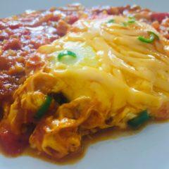 Spicy Cheese Shakshouka