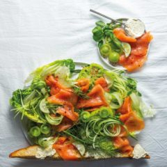 Upgrade your salad with oak-smoked salmon ribbons