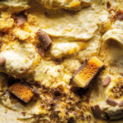 Caramelised banana-and-crunchie ice cream