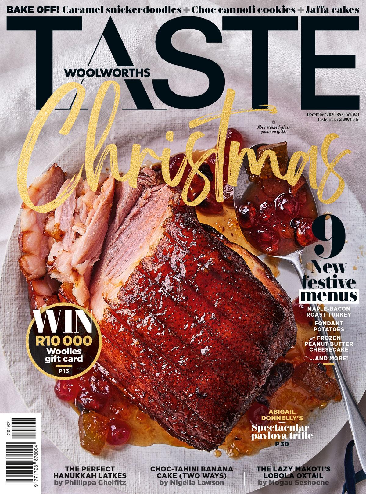 Taste December 2020 cover