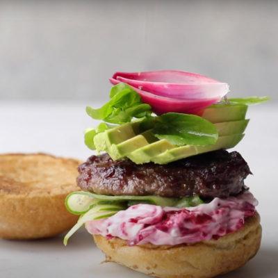 Tangy gluten-free burger