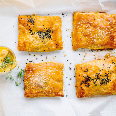 Cheese-and-onion pies