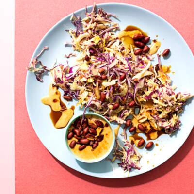Crunchy no-raisin coleslaw