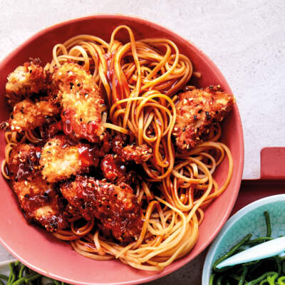 Sesame chicken noodles