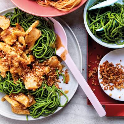 Vegan Thai coconut noodles