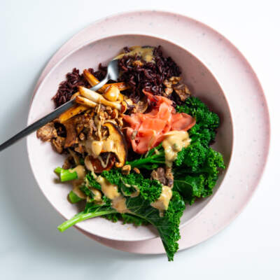 Vegan black rice bowl