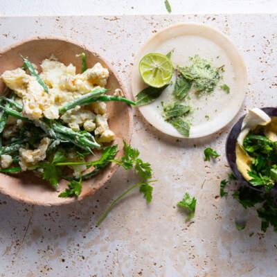 Bashed potato salad