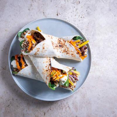 Chicken liver burritos